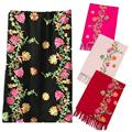 SP 19 Fairy Store 2016 Hot Selling    Winter Women Embroidery Blended Cashmere Sarong Wrap Shawl Style Scarves