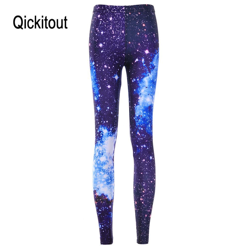 Wholesale Women Sexy Universe Blue Printed Leggings Pants Elasticity Fashion Space Tie Dye Milk Silk