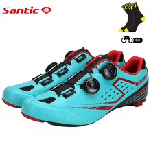 Santic Men s Cycling Road Shoes with Carbon Fiber Sole Light Bike Bicycle Riding Shoes for