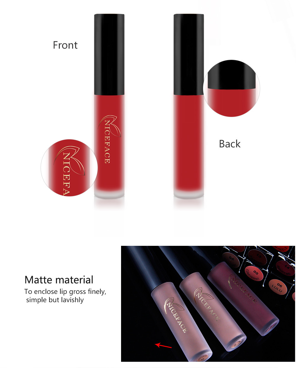 15 Colors Lips Maquiagem Matte Lipstick Kit Matt Lip Gloss Lip Balm Beauty Cosmetics Makeup Lipgloss Make up Liquid Batom matte in Lipstick from Beauty Health