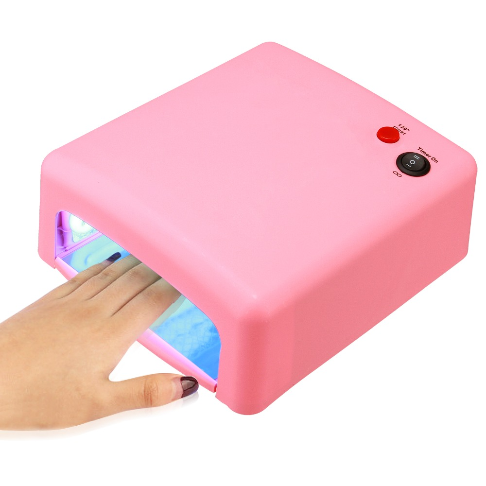 Anmas Rucci 36W PINK/WHITE 110V/220V UV GEL NAIL ART CURING LAMP DRYER 4 x 9W BULB Light Salon
