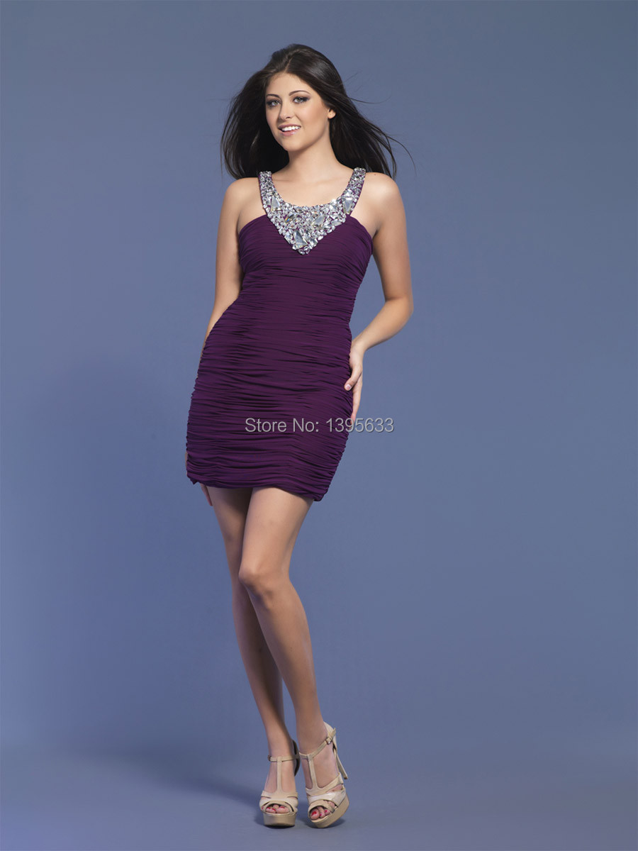 Compare Prices on Purple Cocktail Dresses- Online Shopping/Buy Low ...