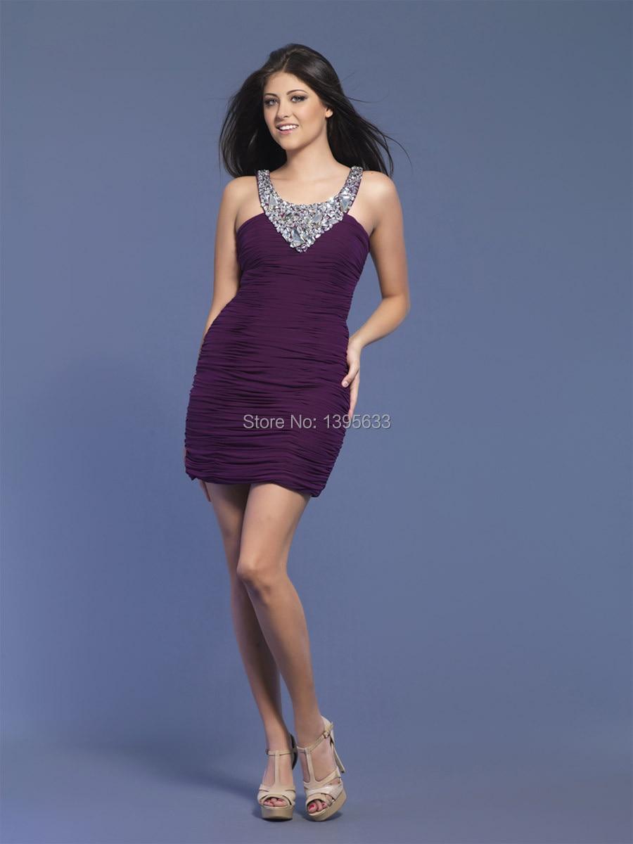 Popular Purple Cocktail Dresses-Buy Cheap Purple Cocktail Dresses ...