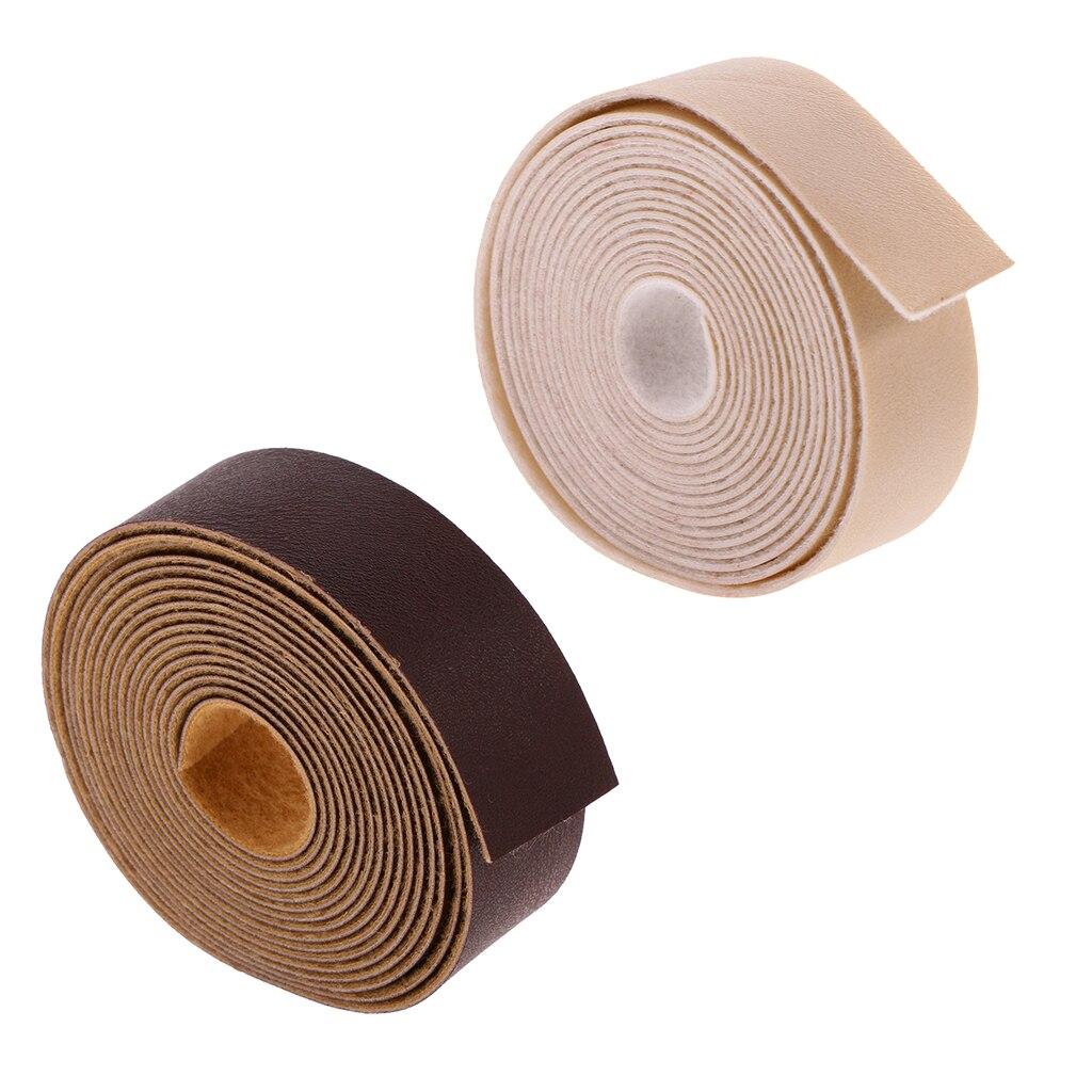 2 Rolls of 10m DIY PU Leather Straps Wide Strips Handbag Belt Making Accessories