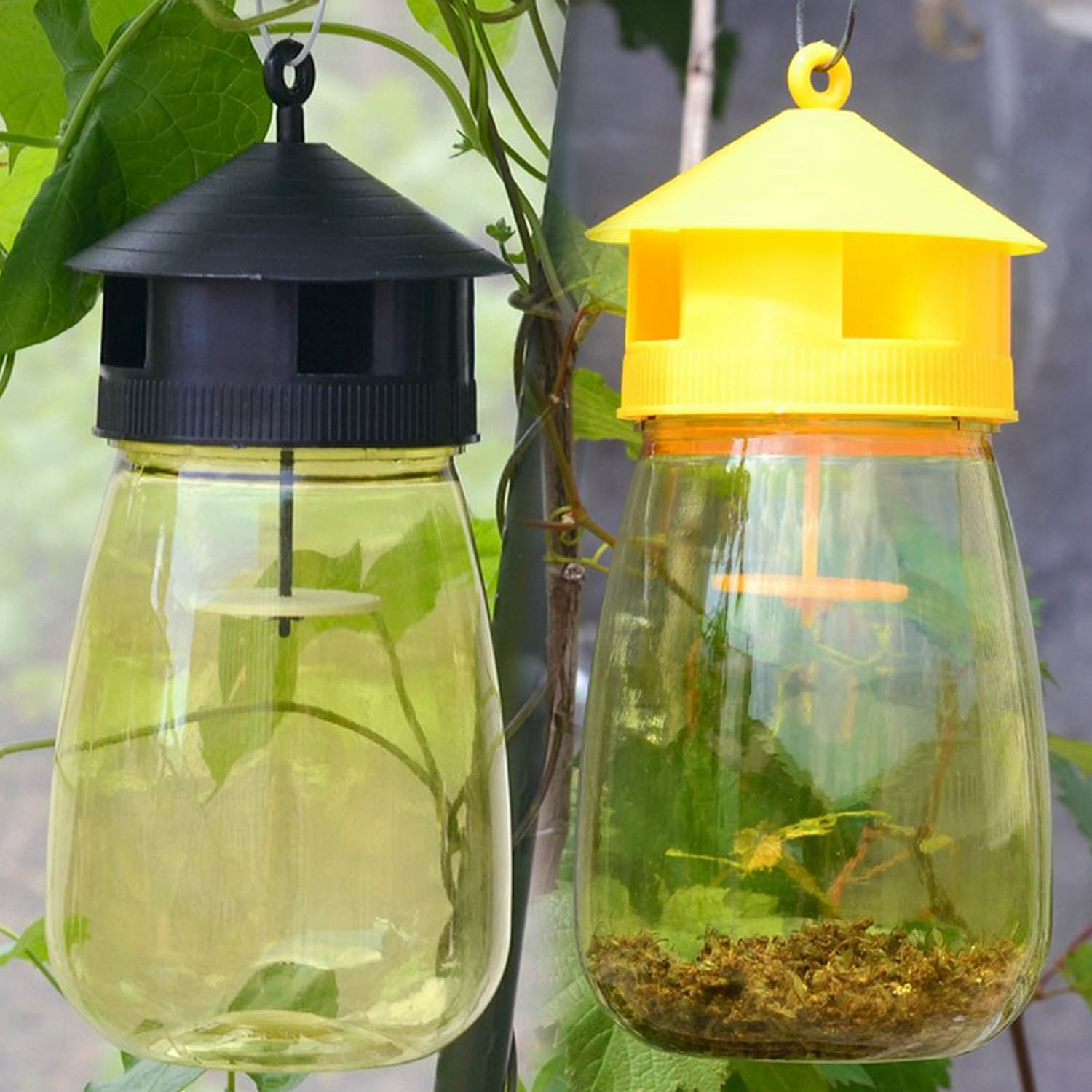 Behogar Fruit Fly Trap Catcher For Home Garden Patio Courtyard Orchard Fruits Vegetables Guava Carambola Mango Loofah Tomato