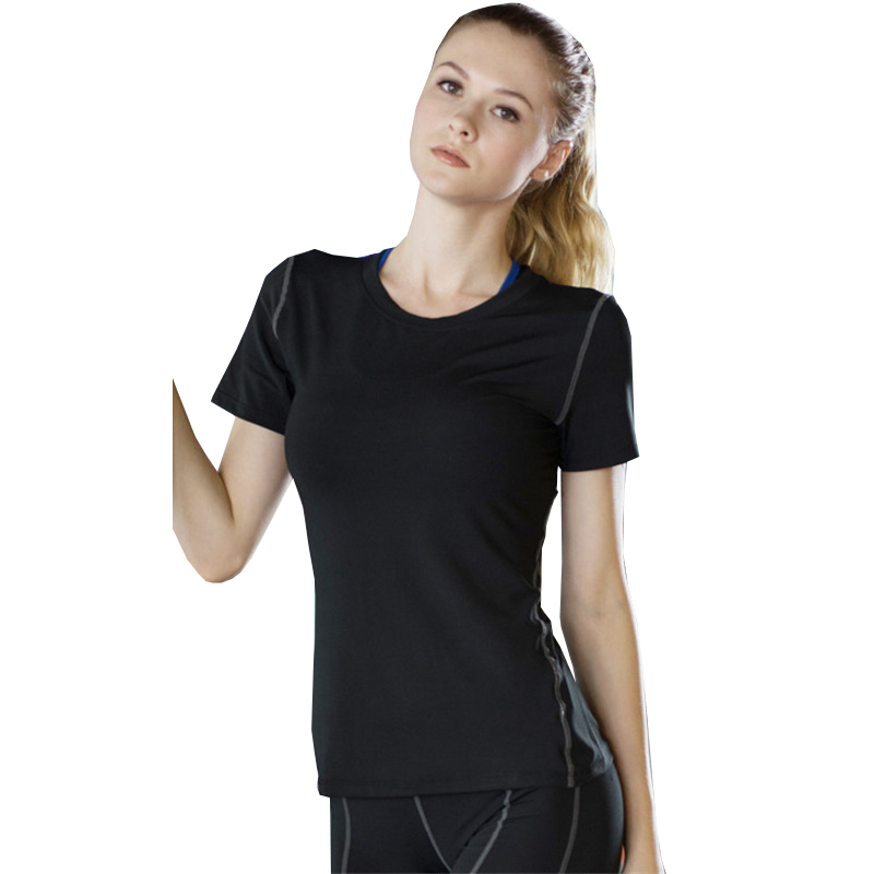 Women running t shirts sport short sleeve yoga t shirt Yoga shirts with sleeves