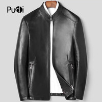 Pudi MT908 2019 new fashion genuine leather standing collar jacket real sheepskin leather coat autunm and winter warm outwear