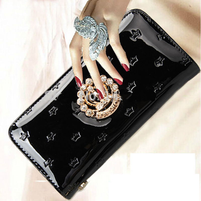 Bogesi New 2018 Luxury Brand Women Long Fashion Patent Leather Wallet Female Clutch Ladies Phone Purse Coin Credit Card Holder стоимость