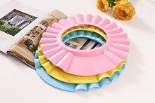 Baby Adjustable Shower Cap Bath Waterproof Hat Forborn Kid Children Wash Hair Shield Hat