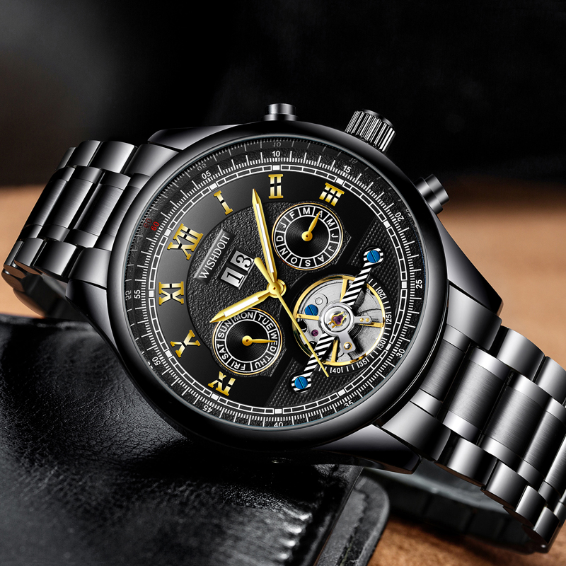 2018 NEW Fashin Watch Men Top Brand Luxury Men 39 s Automatic Mechanical Watches Casual Business Waterproof Watch Montre Homme in Mechanical Watches from Watches