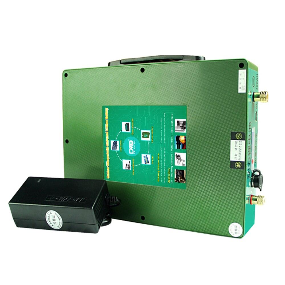 Portable 12 V tension nominale 18650 support de batterie 12 volts 80ah boîte de batterie livraison gratuite