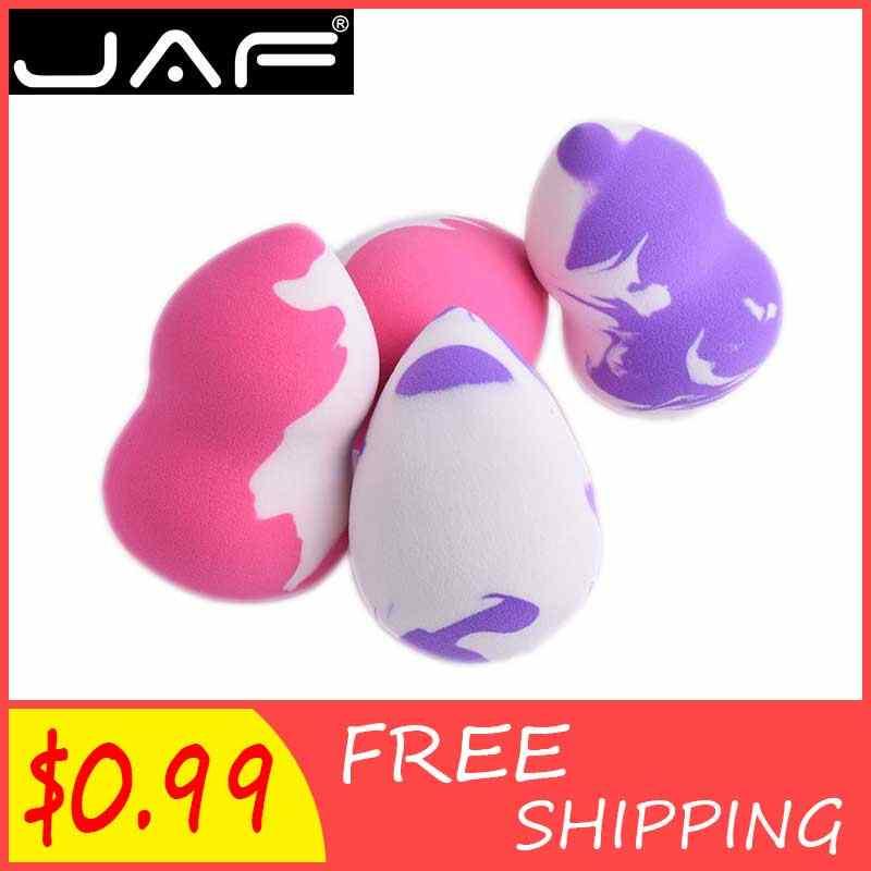 Licuadora de esponja de maquillaje de polvo cosmético JAF, esponja de maquillaje de base para la cara, huevo de maquillaje corrector de piel suave milagrosa