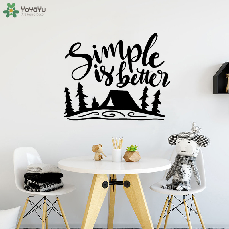 detail feedback questions about yoyoyu wall decal camping wall