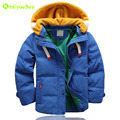 KEAIYOUHOU Boys Jacket Boys Winter Jacket Teenager Boys Hooded Coat Kids Boys Warm Outerwear Coat Down Jacket Children Clothes