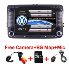 7″Touch Screen 2 Din VW DVD navigation System For Seat Polo Bora Golf Jetta Tiguan Leon Skoda 3G GPS Bluetooth Radio Free Map