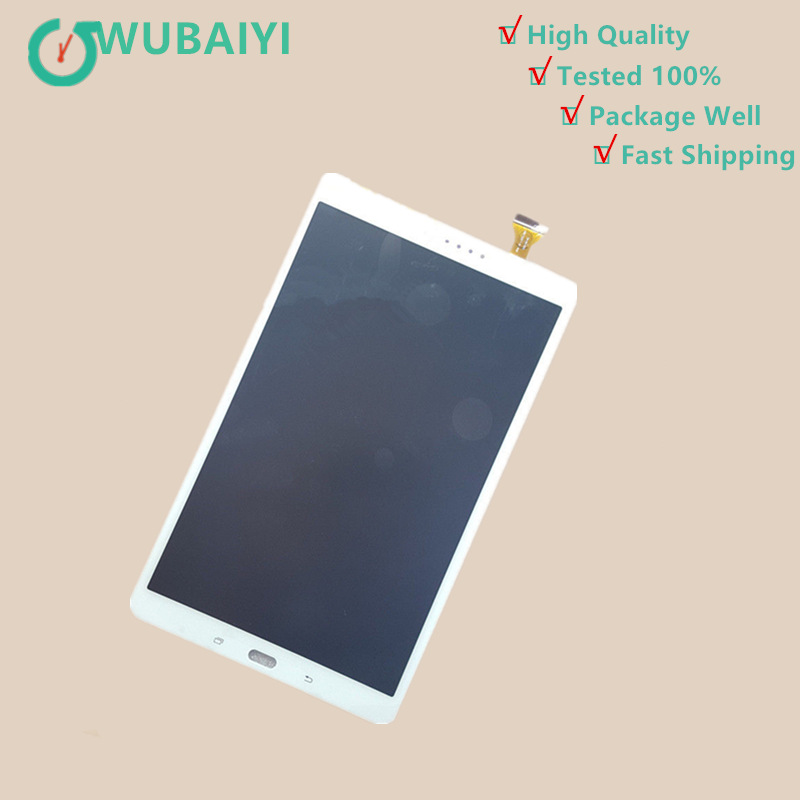 T580 10.1 For Samsung Galaxy Tab A 10.1 SM-T580 T585 LCD Display Touch Screen Digitizer Glass Panel Sensor Assembly 2 color for samsung galaxy tab a 10 1 t580 t585 sm t580 sm t585 touch screen digitizer sensor lcd display monitor assembly