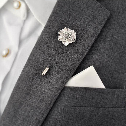 New fashion men suit accessories crystal flower lapel pin christmas new fashion men suit accessories crystal flower lapel pin christmas wedding shirt brooch boutonniere stick pin xz 102 in brooches from jewelry accessories mightylinksfo