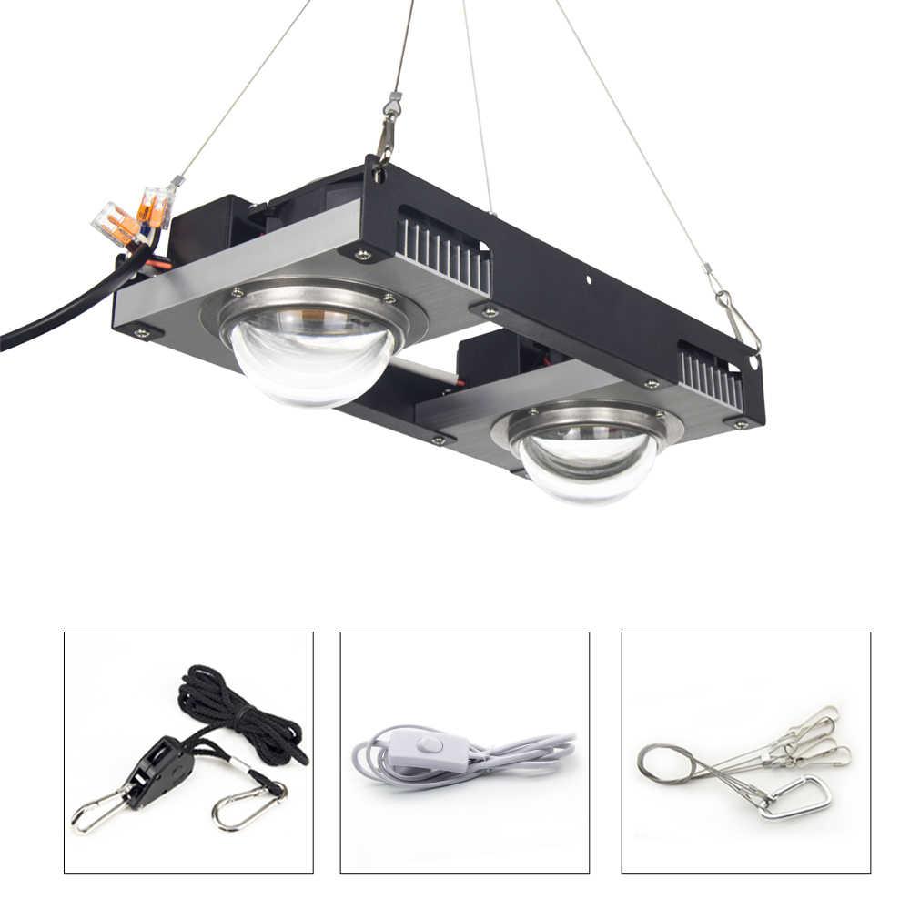 Cree CXB3590 LED COB Tumbuh Cahaya Spektrum Penuh 100W 200W Warga Negara LED Tanaman Tumbuh Lampu untuk Tenda Indoor rumah Kaca Tanaman Hidroponik