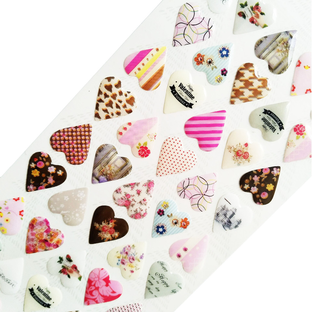24pcs/lot New 3D heart style style quality pvc sticker/DIY Multifunction sticker/mobile sticker diary scrapbooking24pcs/lot New 3D heart style style quality pvc sticker/DIY Multifunction sticker/mobile sticker diary scrapbooking