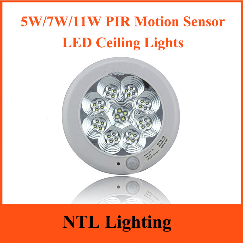 5W 7W 11W PIR Motion Sensor LED Ceiling Lights 15cm 23cm
