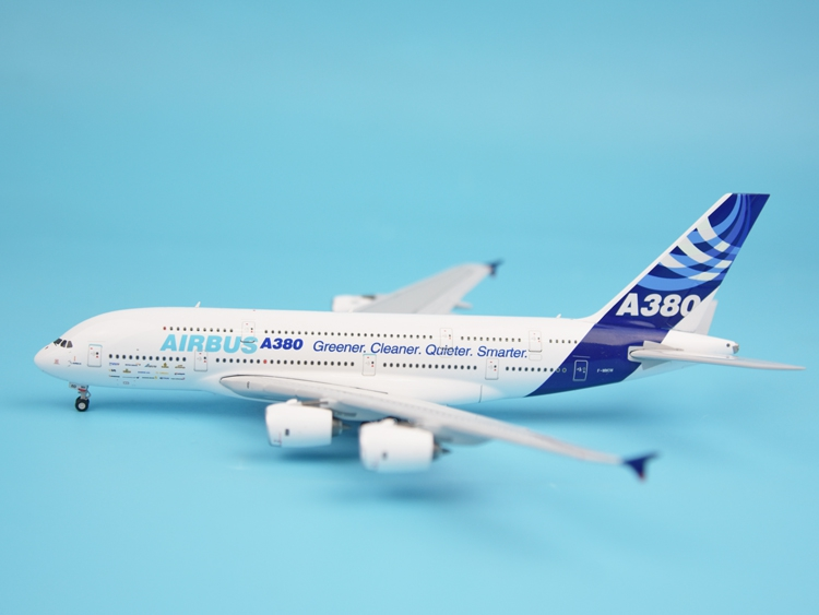 HYJL wings 1:400 Airbus original factory A380 F-WWOW Alloy aircraft model Collection model Holiday gift fine special offer jc wings 1 200 xx2457 portuguese air b737 300 algarve alloy aircraft model collection model holiday gifts