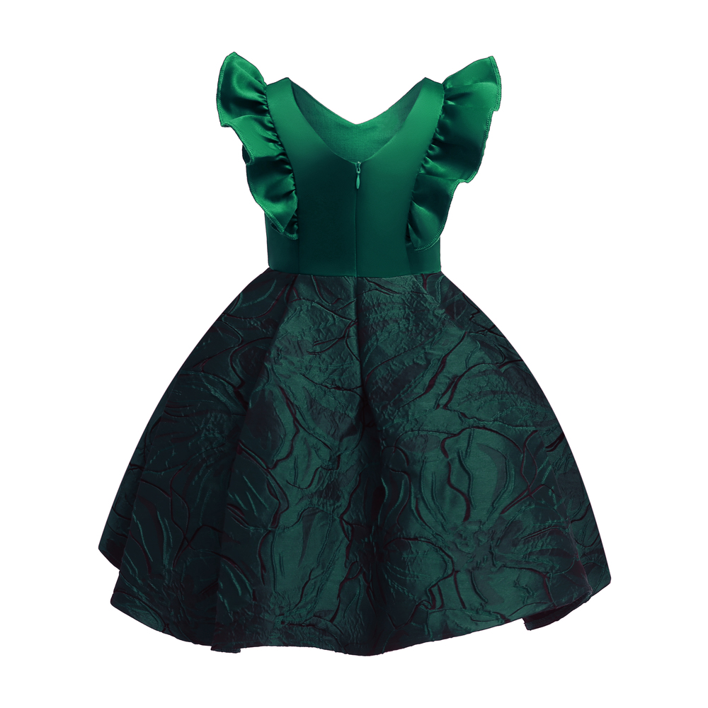 Floral Girl Dresses 2019 Summer Princess Costumes Wedding Child Clothing Ruffles Kids Dress For Girls Formal Prom Gowns 10 Years (8)