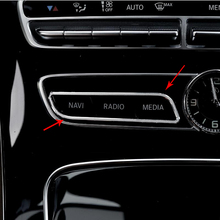 Интерьер автомобиля центр Управление CD кнопку панель рамка Отделка Декоративные наклейки для Mercedes Benz C E класса GLC W205 W213