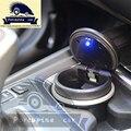 Luz LED azul Carro Cinzeiro com Caixa de Armazenamento Especial Para BMW 1 3 5 7 série X1 X3 X5 X6 E70 E71 F01 F10 F30 F20 F13 F15car-styling
