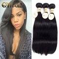 Qt barato Extensión Del Pelo Humano Productos de Pelo de Malasia Virgen Cabello Liso 3 Bundles Malasia Straight Hair Weave Bundles