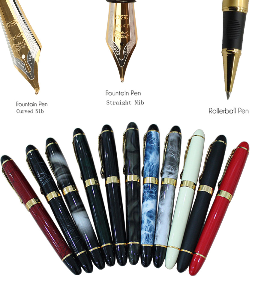 Rollerball pen BLUE or Fountain pen Wholesale 12pcs/lot 9 colors choose JINHAO 450 standard pen Stationery Free  shipping 8pcs lot wholesale fountain pen black m 14 k solid gold nib or rollerball pen picasso 89 big executive stationery free shipping
