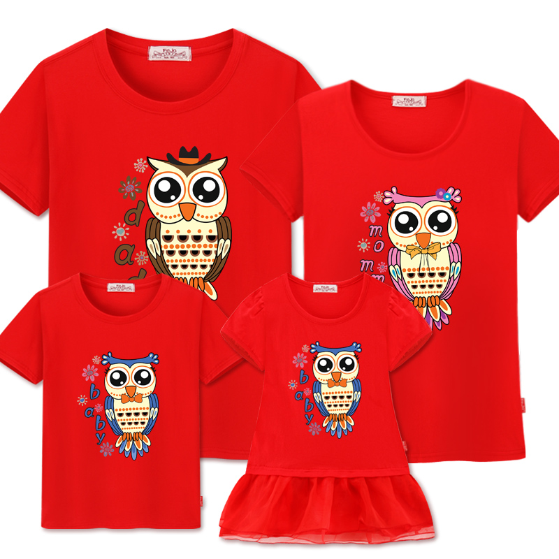 Family Matching Clothes Matching 2019 Family Look Mother Daughter Dress Summer Cotton t-shirt Father Son Outfits Short Sleeve