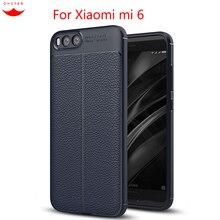Фотография Xiaomi mi6 case 5.15 inch Luxury soft TPU Litch Leather Texture  Cover Xiaomi mi 6 cases for xiomi mi6 Mobile Phone Accessories