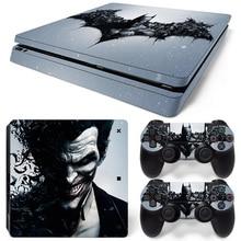 Batman дизайн игры наклейки защитные наклейки кожи для PS4 Slim консоли и контроллеры