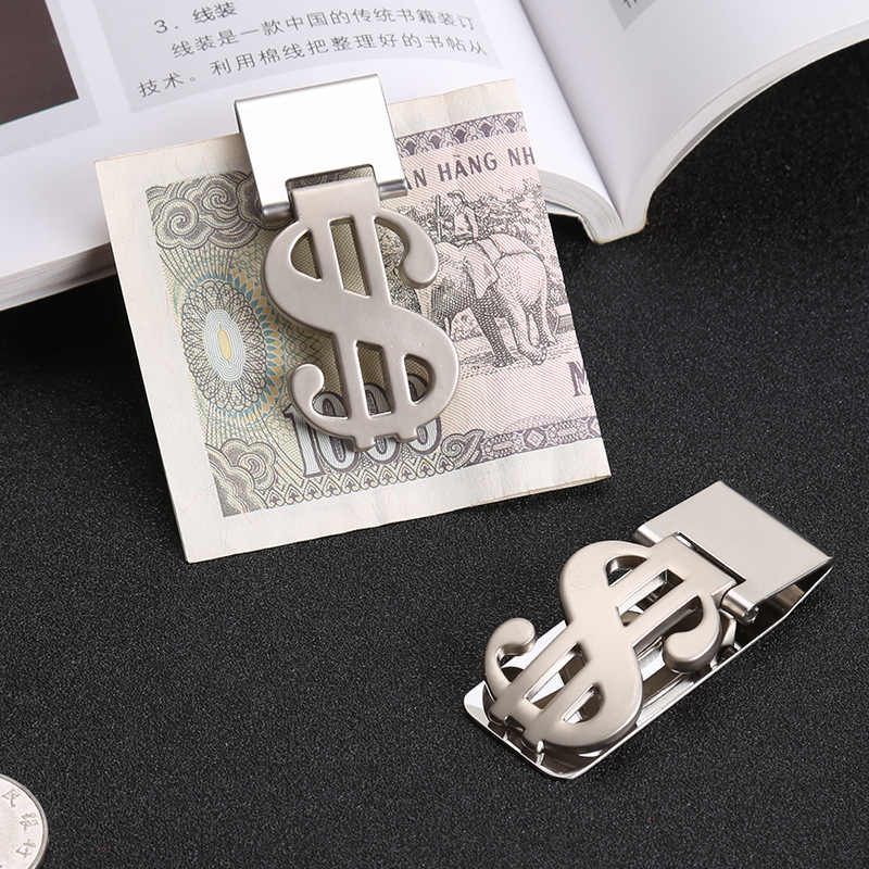 Stainless Steel Money Clips Metallic Dollar Price Money Holder Cash Clamp Silver Perfect Gift for Fathers' Day, Graduation