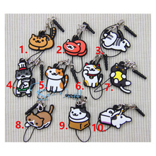 Game Keychain Anime Cartoon Nekono Kyuujitsu Neko Atsume Cute Lovely Cats Soft Rubber Keychain Portachiavi Pendant Collect