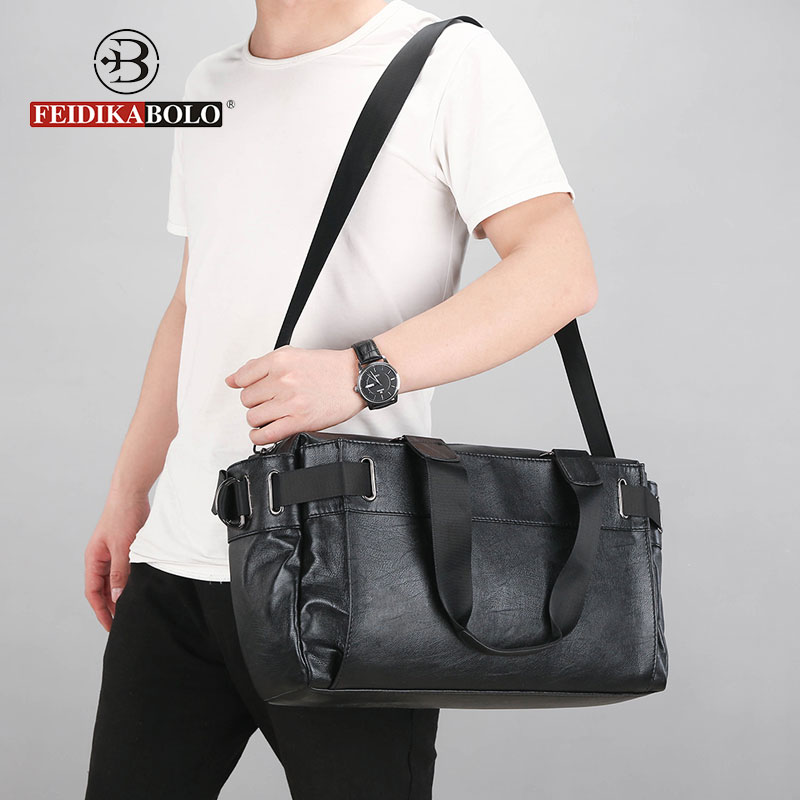 Men Crossbody Bag Leather Travel Bags Man Handbags Male Travel Luggage Bag High Quality Duffle Bags For Man 2018 Packing Totes