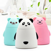 New Cartoon Bear USB Ultrasonic Air Humidifier Mini Essential Oil Aroma Diffuser Aromatherapy Home Office Mist