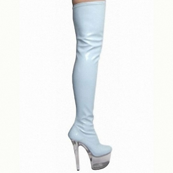 necessary 15 cm super slim and sexy boots model runway shows shoes Noble temperament knee high boots - 4