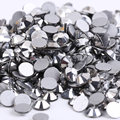 Color SS4 Plata Hematite 1440 unids cristal de Hotfix del rhinestone no 1.5mm Nail Art Piedras flatback