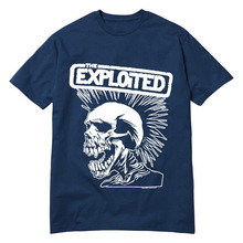 Hot New Fashion Men's T Shirts Punk Rock Band The Exploited Tee Round Top T-Shirt High Quality Low Price Swag Skull Camisetas