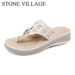Image 1 - הקיץ חיצוני חוף כפכפים נשים כפכפים החלקה נוח טריזי עקבים פלטפורמת נעלי נעל נשית באיכות גבוהה