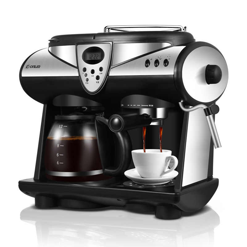アメリカ/イタリア 2 フレーバーエスプレッソコーヒーマシンポンプとボイラーカプチーノラテマキアートモカミルクの泡メーカー