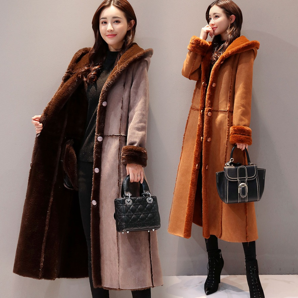 plus size 5XL winter women single-breasted motorcycle long plus velvet thick fur coat warm artificial   leather   female coat