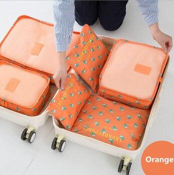 YIWUSELL.COM Yiwu market 6 Set Packing Cubes with Shoe Bag Compression Travel Luggage Organizer