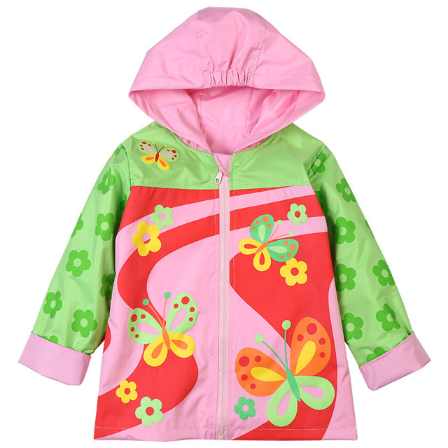 4db10abf7 2018 Toddler Baby Girl Jackets Winter Autumn Kids Outerwear Children's  Clothing Clothes For Girl Hooded Waterproof Raincoat Coat