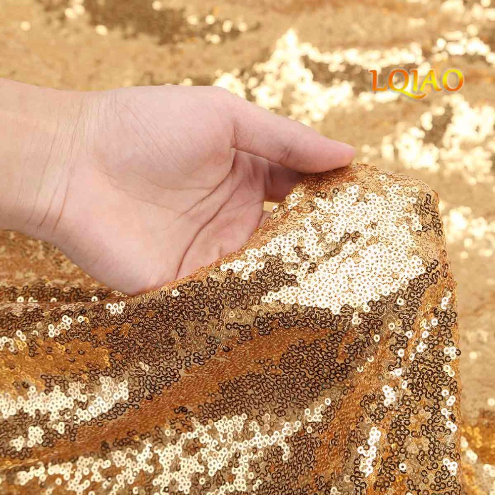 Gold Sequin Curtain Backdrop-007