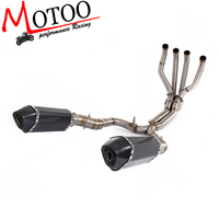 Motoo Exhaust Middle Pipe System FOR KAWASAKI Z1000 2010 2016 With Muffler