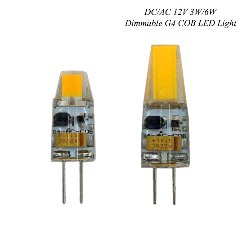Dimmable G4 LED Lamp 3W 6W COB LED Bulb AC DC 12V 220V Mini Lampada LED G4 COB LightS 360 degree Replace Halogen G4 Chandelier