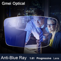 Anti Blue Ray Lens 1 61 Progressive Prescription Optical Lens Glasses Lens For Eyes Protection Reading
