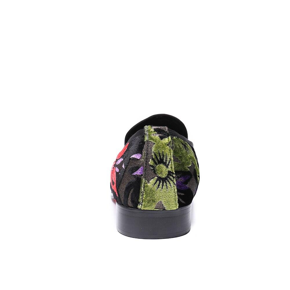 Christia Bella British Style Men Velvet Loafers Wedding Prom Floral Men  Dress Shoes Slip on Smoking. sku  32878328888 c599eab0816a